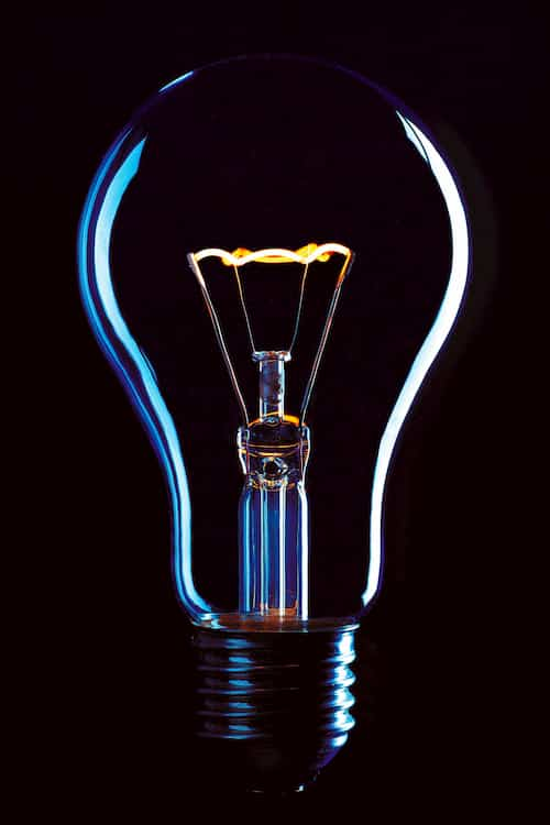 Lightbulb Image - Like electrons, we will always take the path of least resistance. The only reason the bulb lights up is that there is no other path.